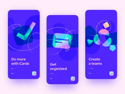 Onboarding design noise holographic figma 23 dailyui blue abstract ios mobile welcome design app illustration ux ui onboarding