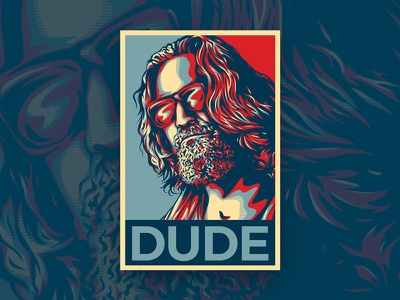 Dude illustration obey dude sunglasses office movie picture art ai big lebowski