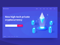 Cryptocurrency Landing Page Concept