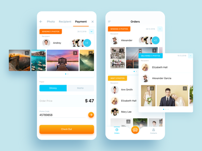 Graphie App photo payment order appdesign mobile app ios photography app ux ui