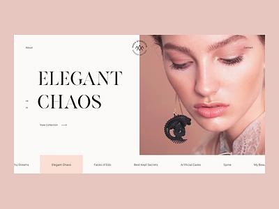 Jewellery Designer animation logo interaction jewellery ux ui typography web