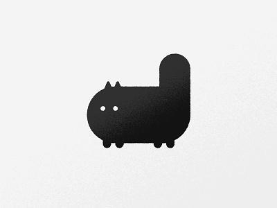 Cat icon black texture iconography vector ai cat icon logo illustration