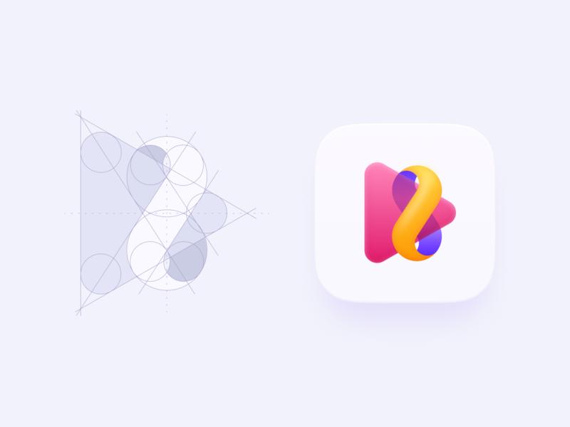 Mobile App Icon player bright color app icon icon design eight movie symbol branding vector app 005 dailyui play logo icon
