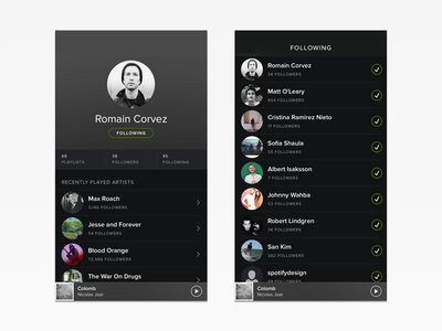 Spotify Social Redesign spotify ios mobile redesign