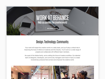 Behance Careers  behance recruiting web careers adobe