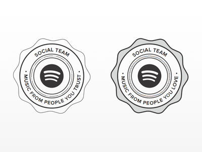 Spotify Badge spotify badge social stamp