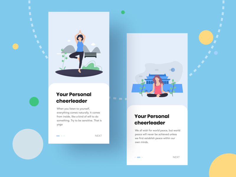 Yoga Leader ui  ux uiux application ui uidesign ui trendy design trendy trend onboarding screen onboarding ui onboard yoga onboarding minimal clean ui clean design application app design 2019 trend