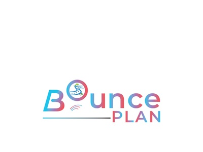Travel logo for bounce plan design illustration travel logo brand identity logo graphic design branding design branding graphic art graphics design