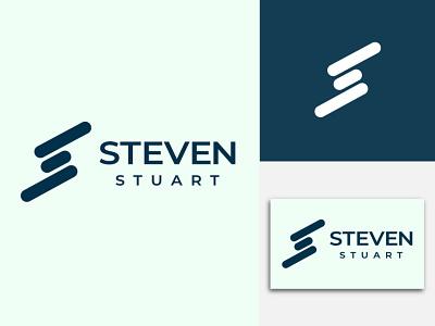 """Modern Lettermark Logo for """" STEVEN STUART """". letter mark 3d graphics art logo art minimalistic minimalist business logo modern logo flat and modern flat vector design brand identity branding graphic art illustrator illustration graphics design graphic design logo"""