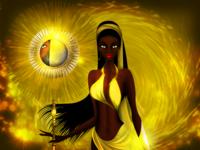 Oshun Yoruba Goddess of Beauty, The Sun and Gold
