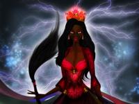 """Oyá Yansa Goddess """"Saint"""" of the Storm and Cementery"""