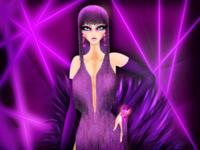 Aquarius Bio-Dragqueen pride purple showgirl burlesque lgbtqia lgbtq drag queen drag horoscope model fashion illustration