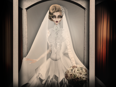 "Mexican Legends ""La Pascualita"" bride dayofthedead folklore ghost manequin mexico illustration model fashion"