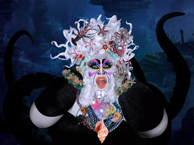 Shula D´Bonita The Sea Witch Villains Poker by Arian Del Valle