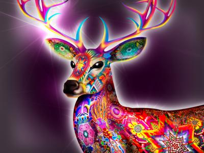Kauyumari the Deer God Huichol God