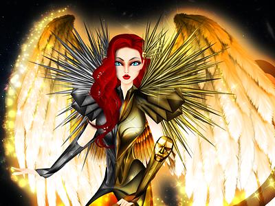 Gemini Zodiac Sign Angel Digital Illustration stars cosmogony astrology armor saint divine catholic angeles angel horoscope zodiacsigns zodiac religion