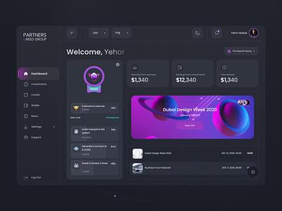 Investment service dashboard website 3d graphdesign gamifiction achievement dashboard statistic ux ui content takasho design ai