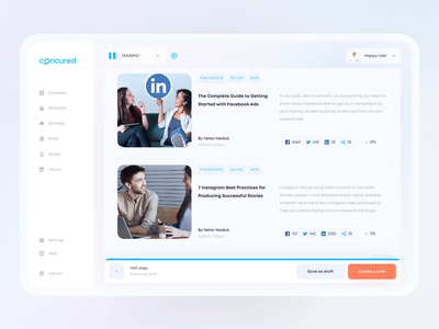 AI Web Dashboard   Concured flat clean minimal button brief crypto mobile product figma motion illustration animation dashboard interface webdesign web design 3d ux ui
