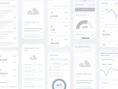 Mobile version presentation B&W | Concured shopping dashboard illustration analytics character chart crypto market nft clean mobile app minimal user interface onboarding web design 3d animation design ux ui
