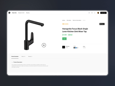 Product Pick   Inspirfy interaction interface graphic design motion graphics interior buy clean store shop nft art web design product animation illustration dashboard 3d design ux ui