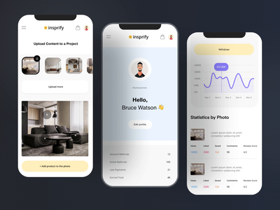 App Onboarding   Inspirfy product interaction art web profile clean onboarding interface xd sketchapp firma resource app mobile motion graphics dashboard 3d animation design ux ui