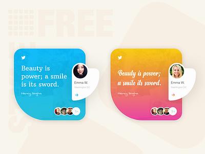 Freestyle2 design app twitter feed social post
