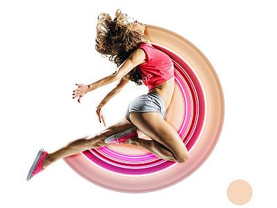 Creative Stretch design banner ad health gym fitness distorted adobe photoshop photoshop social post manipulation