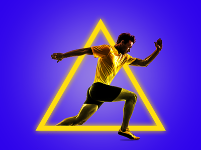 Neon Effect sports banner sports branding neon light adobe photoshop design social post manipulation