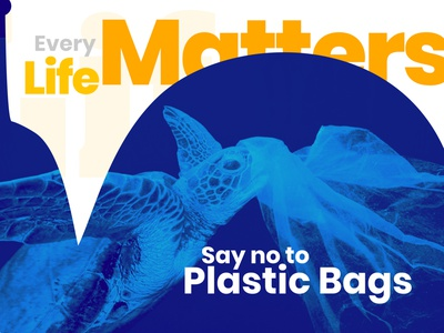 Say No To Plastic Bags life lifesaver nature banner design banner banner ad adobe photoshop design twitter feed manipulation social post