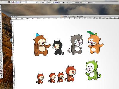 Cat-A-Tonics adobe illustrator cat cartoon vector cute freaky