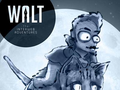 Walt the Interweb Adventures illustration design comic character