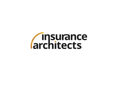 Insurance Architects Logo architect insurance expensive classy gold black professional simple clean logo