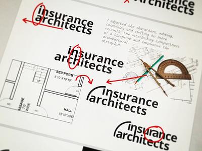 Insurance Architect Logo Process corporate image rationale logo graphic design creative direction