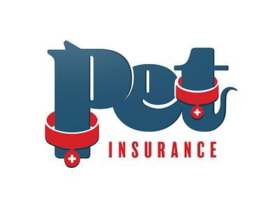 Pet Insurance Logo friendly cat dog cute red blue logo insurance pet
