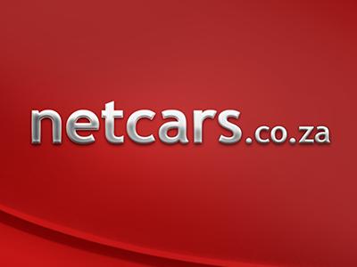 Netcars Logo chrome red website cars logo