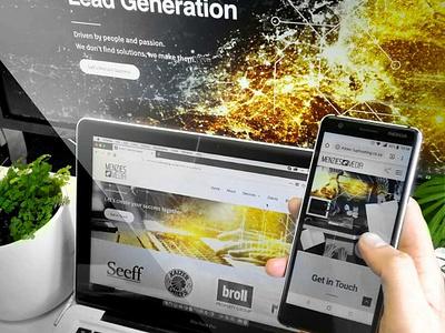 MM Website on Different Displays photoshop corporate branding marketing design content