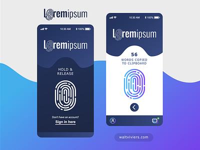 Lorem Ipsum Generator App vector logo illustrator mockup ux ui design app