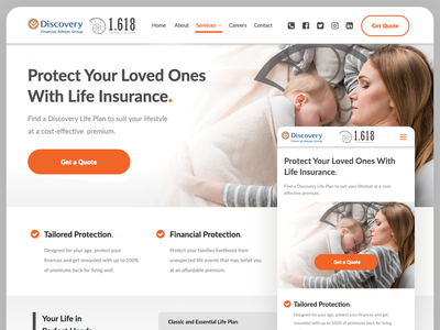 1.618 Advisory Services Website photoshop landing page financial services crm cms responsive creative direction lead generation website design