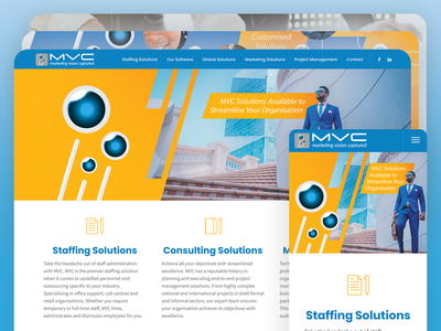 MVC Updated Website responsive photoshop cms wordpress creative direction design website webdesign