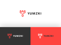 Yumzki - Food App Logo Design