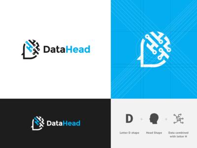 Data Head Logo Design B