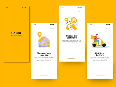 Golulu Food Delivery Services food delivery application food delivery service food and drink food app food yellow food delivery food delivery app fooddelivery delivery service delivery delivery app