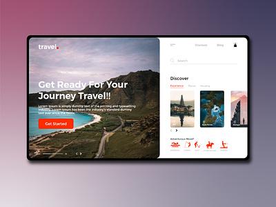 Travel discover landingpage dashboad webdesign travel app traveller traveling travell travel