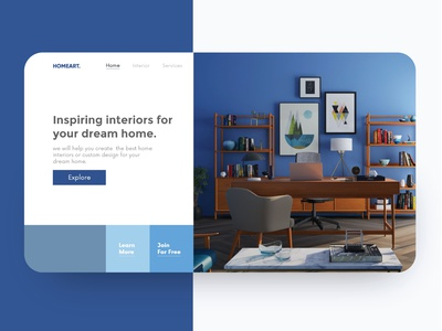 Home Interior Design interior website home screen home webdesign landing design web interiordesign interior landingpage