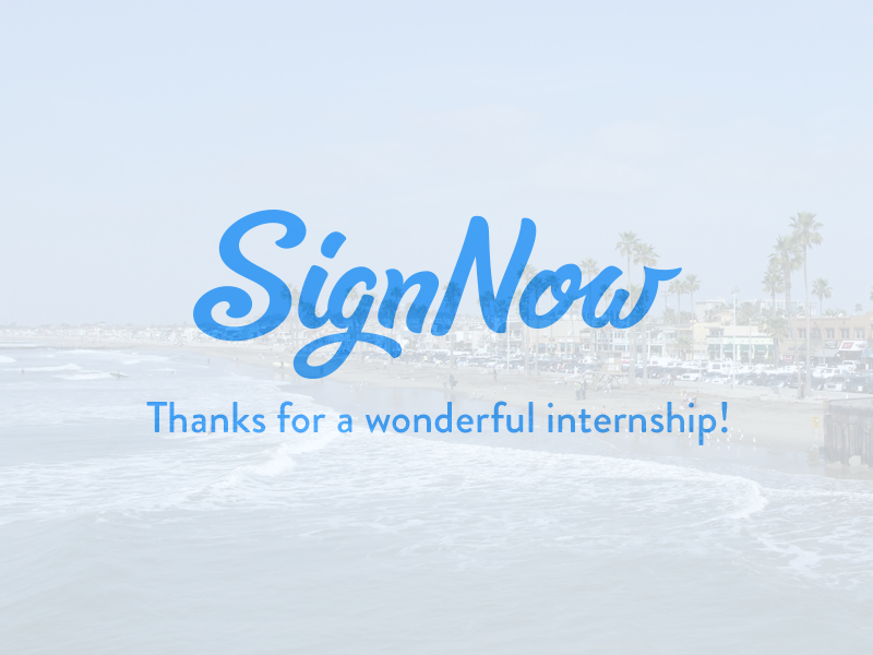 Thanks! signnow internship