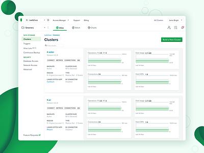 MongoDB Cloud Navigation Redesign productdesign ux ui design uxdesign uiux ui saas navigation nav tabs web design web