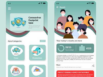 #UIDBootCamp Week 5 - 10. Quiz Result vector flat illustration icon app ux typography user interface ui design