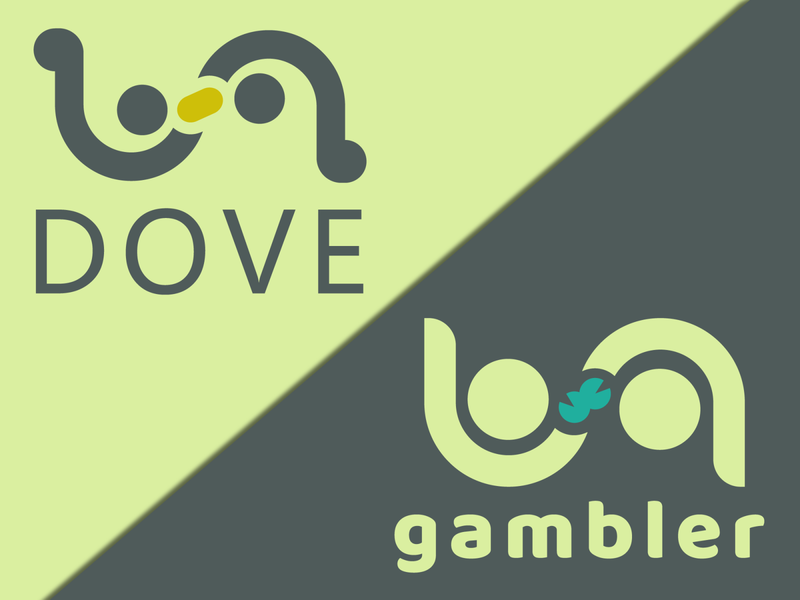 Dove & gambler gambler dove clean brand vector icon logo design illustration