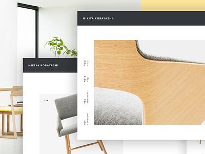 Furniture Showcase Concept furniture showroom interaction animation design minimal shop store