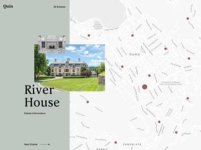 Map Selection estate villa luxury sidebar layout web ux design ui design landing page website web app properties search realestate gallery image map